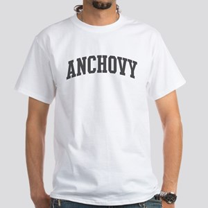 Anchovy (curve-grey) White T-Shirt