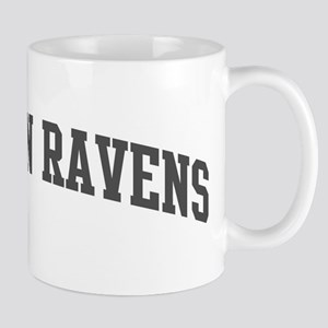 Common Ravens (curve-grey) Mug