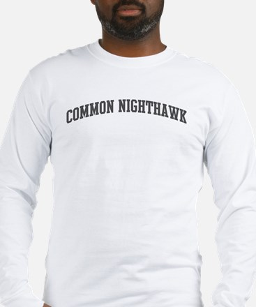 Common Nighthawk (curve-grey) Long Sleeve T-Shirt