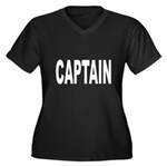 Captain Women's Plus Size V-Neck Dark T-Shirt