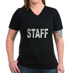 Staff Women's V-Neck Dark T-Shirt