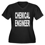 Chemical Engineer Women's Plus Size V-Neck Dark T-