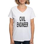Civil Engineer Women's V-Neck T-Shirt
