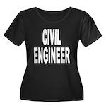Civil Engineer Women's Plus Size Scoop Neck Dark T