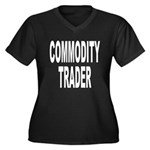 Commodity Trader Women's Plus Size V-Neck Dark T-S