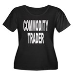 Commodity Trader Women's Plus Size Scoop Neck Dark