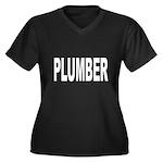 Plumber Women's Plus Size V-Neck Dark T-Shirt