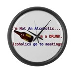 Alcoholic Large Wall Clock