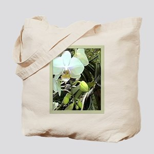 White Phal Orchid Tote Bag