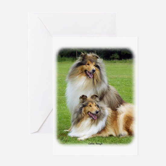 Collie Rough 9R060D-135 Greeting Card