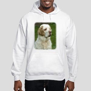 Clumber Spaniel 9Y003D-101 Hooded Sweatshirt