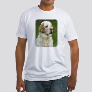 Clumber Spaniel 9Y003D-101 Fitted T-Shirt