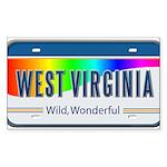 West Virginia Rectangle Sticker