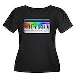 West Virginia Women's Plus Size Scoop Neck Dark T-