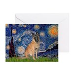 Starry/Belgian Malanois Greeting Cards (Pk of 20)