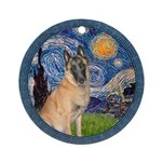 Starry/Belgian Malanois Ornament (Round)