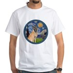 Starry/Belgian Malanois White T-Shirt