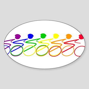 Ride a bike Oval Sticker