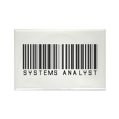 Systems Analyst Barcode Rectangle Magnet (100 pack