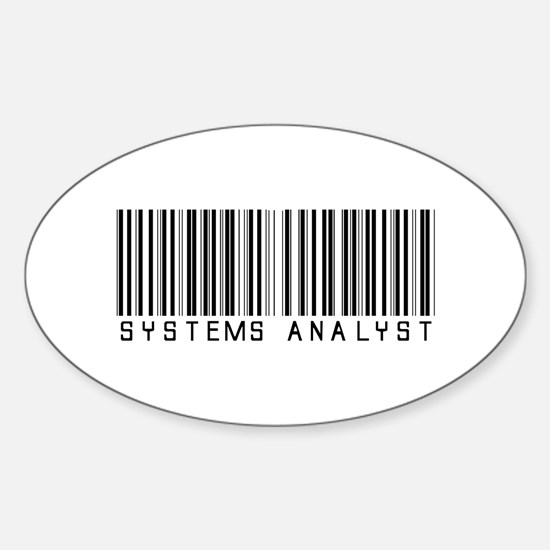 Systems Analyst Barcode Oval Decal
