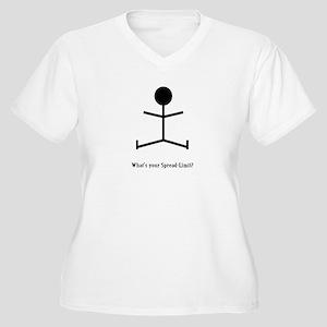 Spread-Limit Women's Plus Size V-Neck T-Shirt
