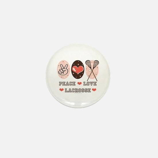 Peace Love Lacrosse Mini Button