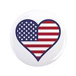 "American Flag Heart 3.5"" Button"