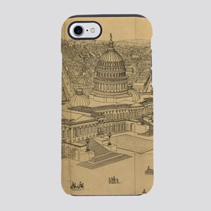 Vintage Pictorial Map of Was iPhone 8/7 Tough Case