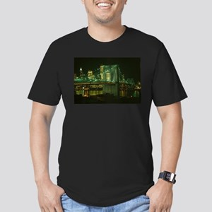 Brooklyn Bridge at Night Photograph T-Shirt