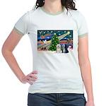 XmasMagic/TibetanTerriers Jr. Ringer T-Shirt