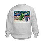 XmasMagic/TibetanTerriers Kids Sweatshirt