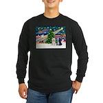 XmasMagic/TibetanTerriers Long Sleeve Dark T-Shirt