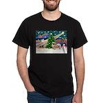 XmasMagic/Tibetan Spaniel Dark T-Shirt