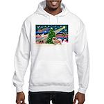 XmasMagic/Tibetan Spaniel Hooded Sweatshirt
