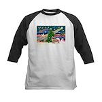 XmasMagic/Tibetan Spaniel Kids Baseball Jersey