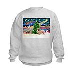 XmasMagic/Tibetan Spaniel Kids Sweatshirt