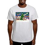 XmasMagic/Tibetan Spaniel Light T-Shirt