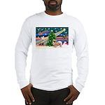 XmasMagic/Tibetan Spaniel Long Sleeve T-Shirt