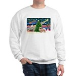 XmasMagic/Tibetan Spaniel Sweatshirt