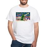 XmasMagic/Tibetan Spaniel White T-Shirt