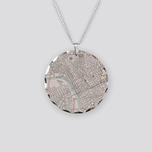 Vintage Map of Nashville Ten Necklace Circle Charm