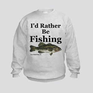 "Kids ""Rather Be Fishing"" Bass Sweatshirt"