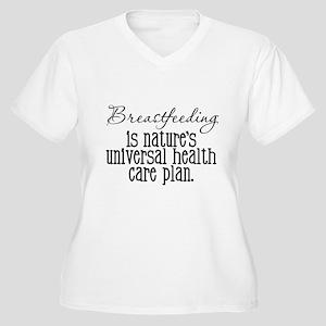 Proud Breast Feeding Women's Plus Size V-Neck T-Sh