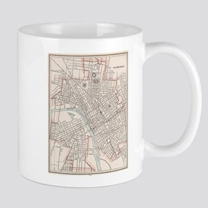 Vintage Map of Nashville Tennessee (1901) Mugs