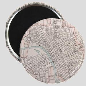 Vintage Map of Nashville Tennessee (1901) Magnets