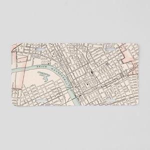 Vintage Map of Nashville Te Aluminum License Plate