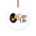Care for Life Logo Round Ornament