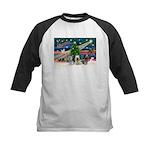 Xmas Magic & Skye Trio Kids Baseball Jersey