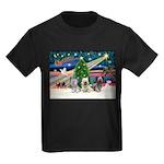 Xmas Magic & Skye Trio Kids Dark T-Shirt