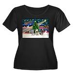 Xmas Magic & Skye Trio Women's Plus Size Scoop Nec